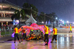 Parade is ranked as largest street festival in Asia. SINGAPORE - JAN 19, 2016: Unidentified participants Chingay Parade. Parade is ranked as largest street Royalty Free Stock Image