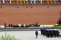 Parade on the Red Square in Moscow Stock Images