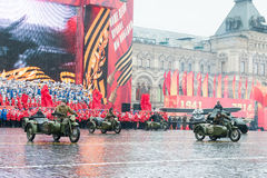 Parade on Red Square in Moscow Stock Image