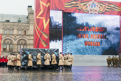 Parade on Red Square in Moscow Royalty Free Stock Photos