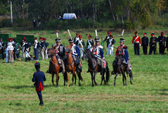 Parade of reenactors clubs. Stock Images