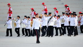 Parade Regimental Sergeant Major marching during National Day Parade (NDP) Rehearsal 2013 Royalty Free Stock Image