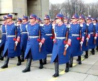 Parade rehearsal Royalty Free Stock Photo