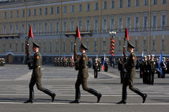 Parade rehearsal before Victory Day Royalty Free Stock Images