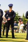 Parade Rest. Police woman standing at parade rest Stock Photography