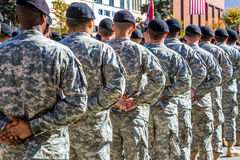 Army Troops at Parade Rest Stock Photos