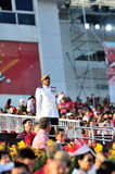 Parade RSM MWO Kannan Tamizh at NDP 2012 Stock Photos