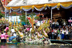 Parade of Rub Bua Festival (Lotus Throwing Festival) in Thailand. Royalty Free Stock Photography