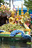 Parade of Rub Bua Festival (Lotus Throwing Festival) in Thailand. Royalty Free Stock Photo