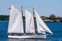 Parade of Sail, Newport, RI. Royalty Free Stock Photo