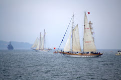Beautiful sailing ships view Royalty Free Stock Image