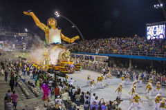 Parade of Samba School 2013 - Sao Paulo Stock Photo