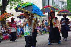 Parade scene Stock Image