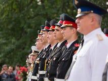 Parade am 1. September im ersten Moskau-Kadett-Korps lizenzfreies stockfoto