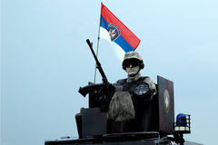 Parade of Serbian police combat unit Royalty Free Stock Photo