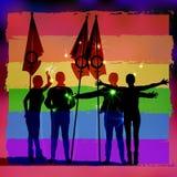 Parade of sexual minorities concept Royalty Free Stock Image