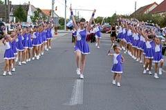 Parade of small cheerleading 1 Royalty Free Stock Photos