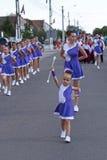 Parade of small cheerleading Stock Photos