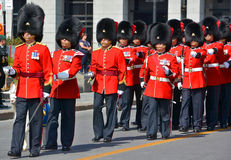 Parade of soldier Royalty Free Stock Image