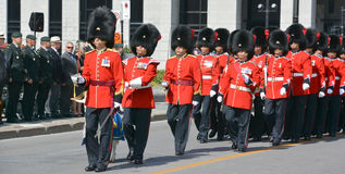 Parade of soldier of the Royal 22nd Regiment Royalty Free Stock Photos
