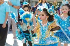 Parade for sporting day. SINGBURI - NOVEMBER 27 : Parade for sporting day of The Anuban Singburi School on November 27, 2015 at Singburi, Thailand Stock Photos