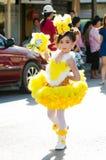 Parade for sporting day. SINGBURI - NOVEMBER 27 : Parade for sporting day of The Anuban Singburi School on November 27, 2015 at Singburi, Thailand Stock Photography