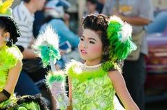 Parade for sporting day. SINGBURI - NOVEMBER 27 : Parade for sporting day of The Anuban Singburi School on November 27, 2015 at Singburi, Thailand Royalty Free Stock Images