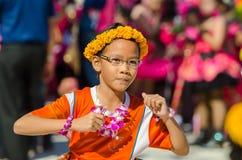Parade for sporting day. SINGBURI - NOVEMBER 27 : Parade for sporting day of The Anuban Singburi School on November 27, 2015 at Singburi, Thailand Stock Images