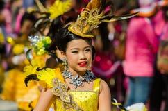 Parade for sporting day. SINGBURI - NOVEMBER 27 : Parade for sporting day of The Anuban Singburi School on November 27, 2015 at Singburi, Thailand Royalty Free Stock Photography