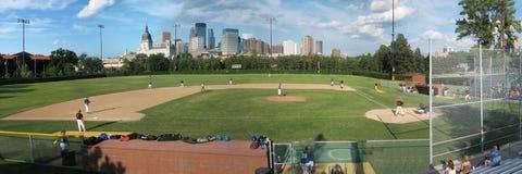 Parade Stadium. Baseball game at Parade Stadium Stock Photo