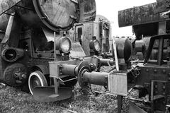 Parade of steam locomotives Stock Photos