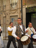 Parade in the Street during the annual Celebration of Las Fallas, Valencia, Spain Stock Images