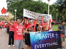 Parade Sydney-Ostern stockbilder