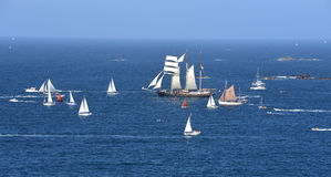 Parade of tall ships Stock Photography