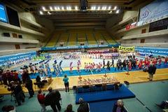 Parade of teams participants at Championship Royalty Free Stock Photos