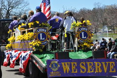 Parade at the 37th Annual Daffodil Festival in Meriden, Connecticut. MERIDEN, CT - APR 25: Parade at the 37th Annual Daffodil Festival in Meriden, Connecticut Stock Images