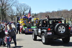 Parade at the 37th Annual Daffodil Festival in Meriden, Connecticut. MERIDEN, CT - APR 25: Parade at the 37th Annual Daffodil Festival in Meriden, Connecticut Royalty Free Stock Images