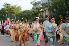 Parade of Thai student Stock Images