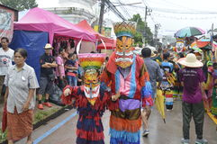 Parade Thailand traditional ghost festival Royalty Free Stock Photography