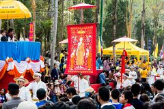 Parade Thailands Lanna Stockfotos