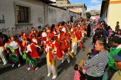 Parade tijdens La Fiesta DE La Mama Negra Stock Foto