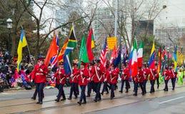 Parade Torontos Weihnachtsmann Stockfotos