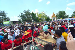 For the parade tradition is cruel ordination ceremony naga. CHAIYAPHUM, THAILAND - MAY 2, 2017 : For the parade tradition is cruel ordination ceremony naga at Stock Image