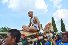 For the parade tradition is cruel ordination ceremony naga. CHAIYAPHUM, THAILAND - MAY 2, 2017 : For the parade tradition is cruel ordination ceremony naga at Royalty Free Stock Photos