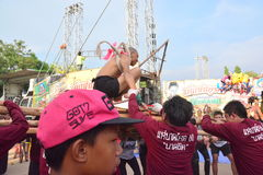 For the parade tradition is cruel ordination ceremony naga. CHAIYAPHUM, THAILAND - MAY 2, 2017 : For the parade tradition is cruel ordination ceremony naga at Stock Photo