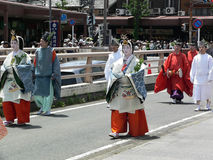 Parade of traditional Aoi festival, Kyoto Japan. Stock Photography