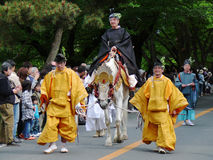 Parade of traditional Aoi festival, Kyoto Japan. Stock Images