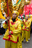 Parade with traditional costumes Stock Image