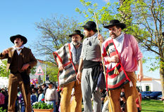 Parade of traditional suits, Serpa village. Royalty Free Stock Images