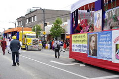 Parade trucks. Parade truck during Annual Vancouver Vaisakhi Parade on Main Street. Picture taken on: April 16th, 2016 Stock Images